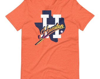 Houston Tequila Sunrise Script H Texas T-Shirt