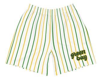 Green Bay Vertical Stripes Action Shorts