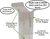 Funko POP Pez Box Protectors made with 0.50mm thick PET Acid-Free Plastic - Perfect Fit with Lay Flay Lid Technology