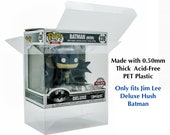 Jim Lee Deluxe Hush Batman Funko POP Protector made with 0.50mm thick PET Acid-Free Plastic - NO pops included