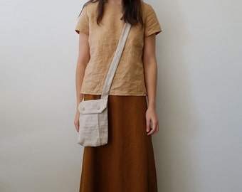 Five Panel Skirt With Flared Back