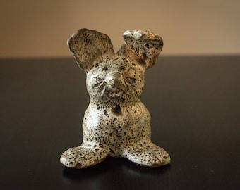 Vintage Folk Art Ceramic Rabbit Figurine