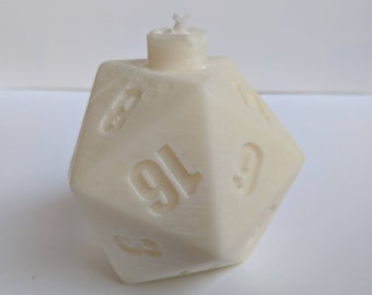 D&D Themed 20-Sided Dice Tabletop Candle