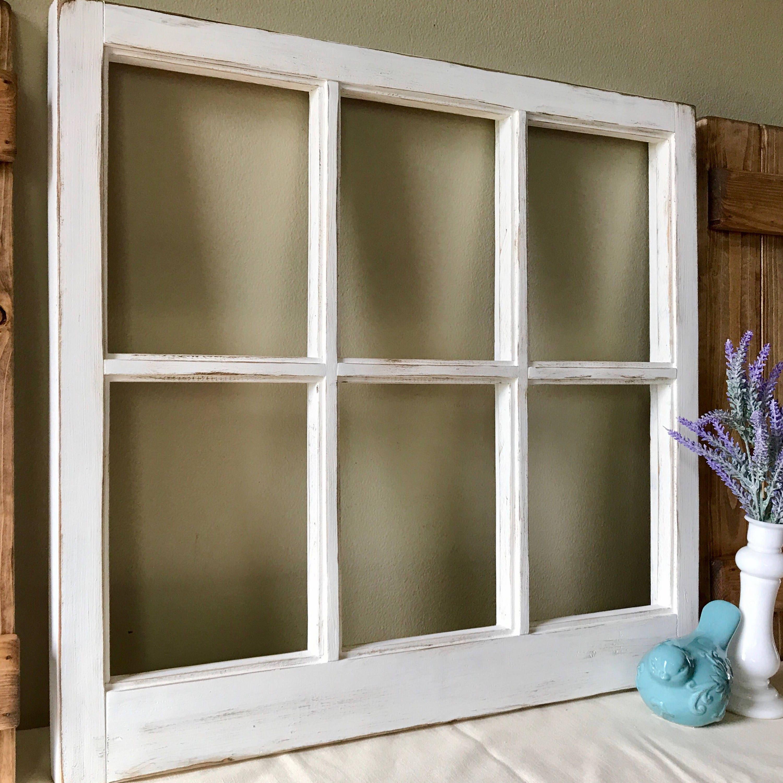 farmhouse window frame vintage style 6 pane window frame etsy rh etsy com cottage style window grids cottage style window treatments