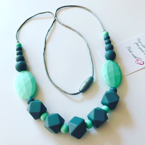 Teething necklace by Stilnati teething necklace for mom to wear silicone beads