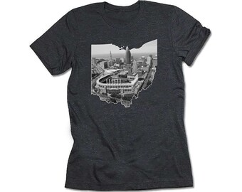 Cleveland, Ohio T-shirt in Black and White