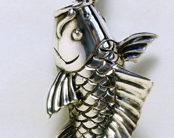Carp Pendant Silver 925
