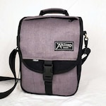 Hemp Canvas Backpack x Shoulder Bag - The Omni(Black/Lavender Gray)