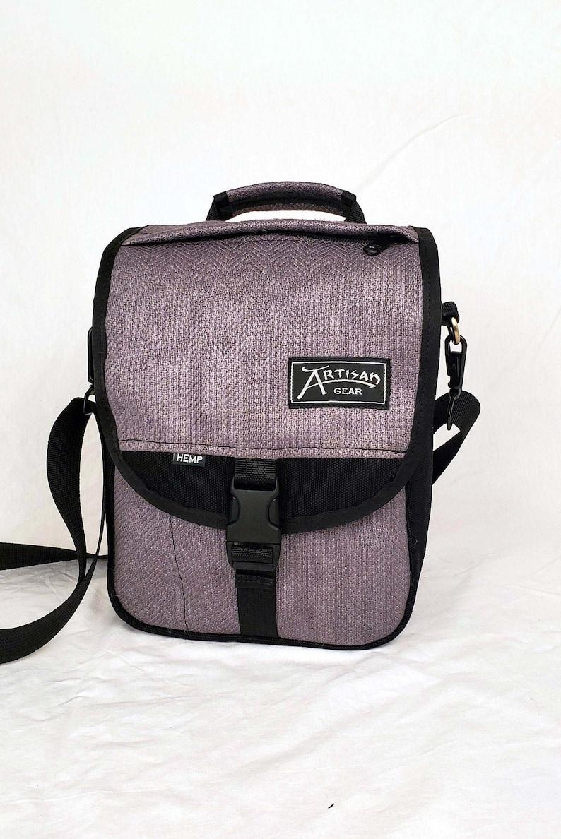 Hemp Canvas Backpack x Shoulder Bag  The OmniBlack/Lavender image 0