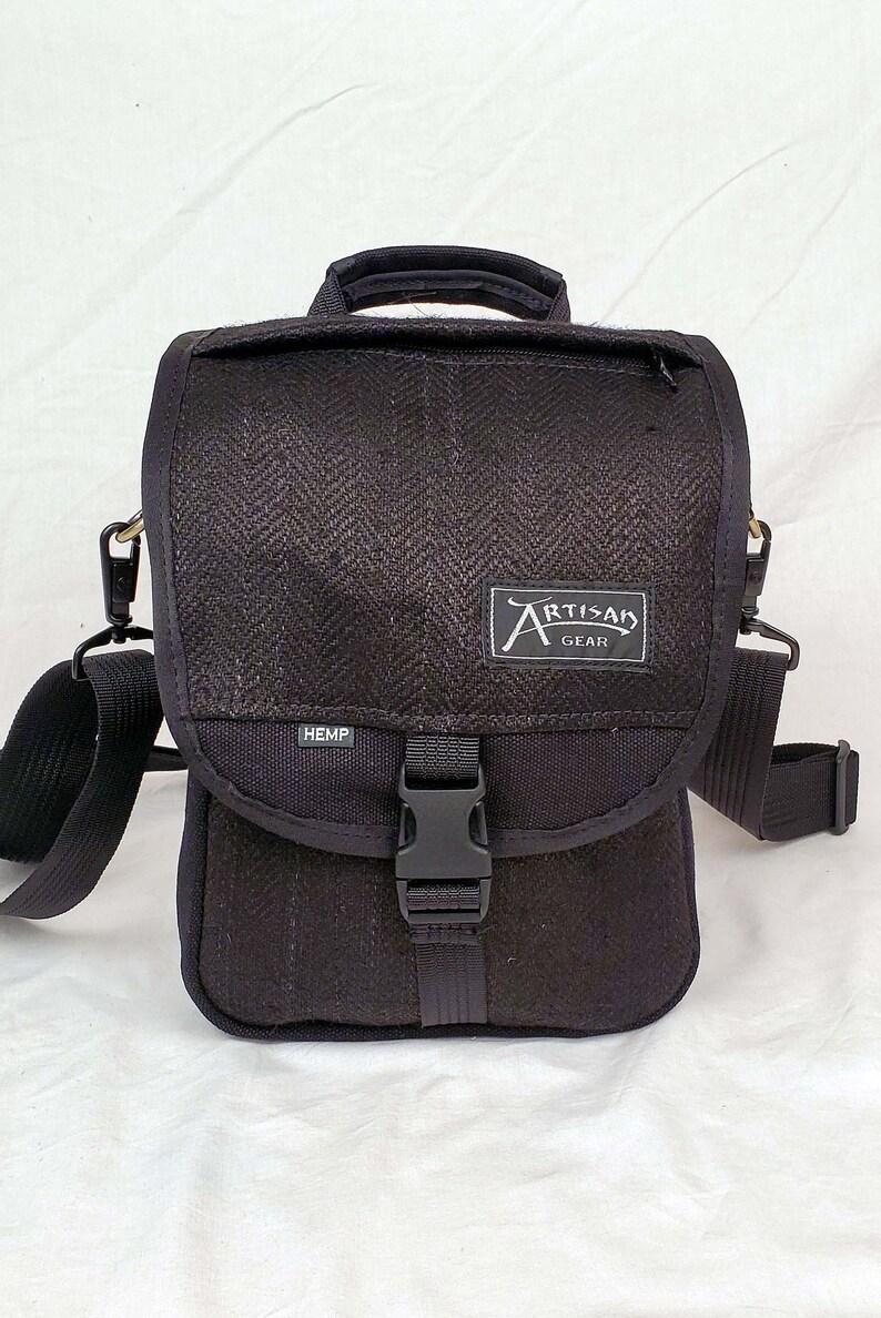 Hemp Canvas Shoulder Bag & Backpack  The Omni Black image 0