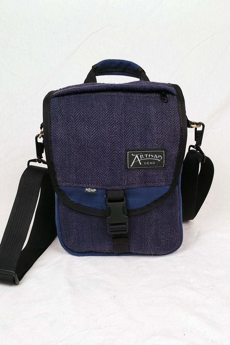 Hemp Canvas Backpack & Shoulder Bag  The OmniIndigo Blue image 0