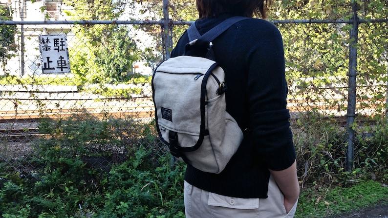 Hemp Canvas  Shoulder Bag & Backpack  The Omni Natural