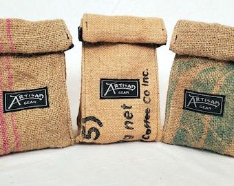 Recycled Burlap Reusable Coffee Bag