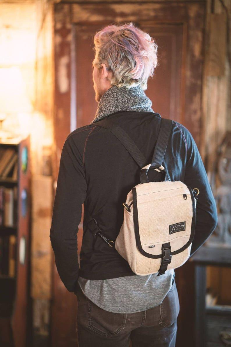 The Omni  Hemp Shoulder Bag and Backpack image 0