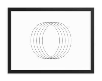 Circles — Framed poster