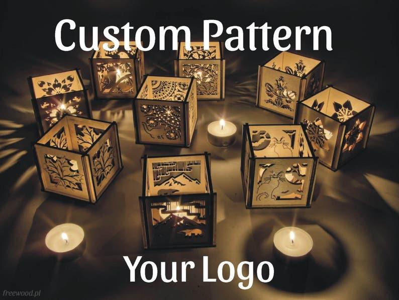 Satz Von Custom Holz Teelicht Laternen Holz Kerze Halter Etsy