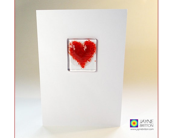 Thank you rainbow fused glass light catcher blank inside gift sympathy birthday any occasion Greeting card with gift keepsake