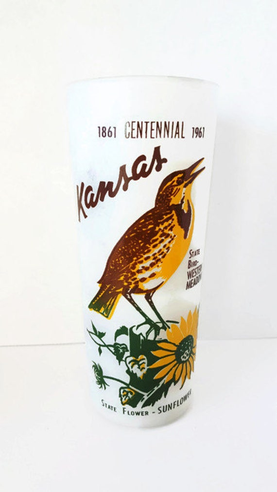 Kansas Centennial Frosted Tumbler