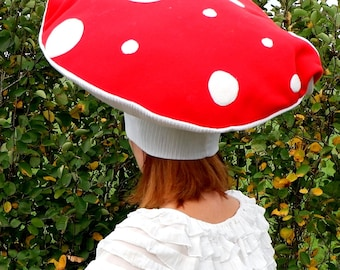 mushroom fly agaric costume hat adult costume mushroom fly agaric dress up handmade costume halloween costume