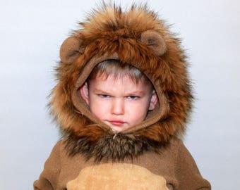 Lion costume/Lion onesie/Kids Costume/Lion dress up/ handmade costume/Halloween costume  sc 1 st  Etsy & Kids lion costume | Etsy