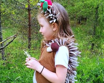 Hedgehog girl costume / Toddler Costume / Kids Costume / hedgehog dress up / handmade costume / Halloween costume