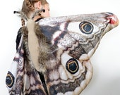 Moth costume Moth wings Kids moth Costume Moth dress up handmade costume Halloween costume