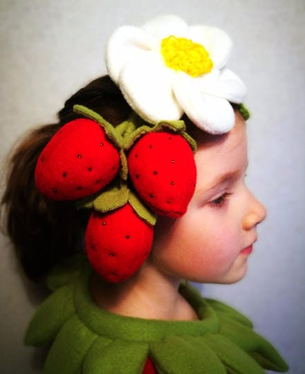 Strawberry headband costume for girls