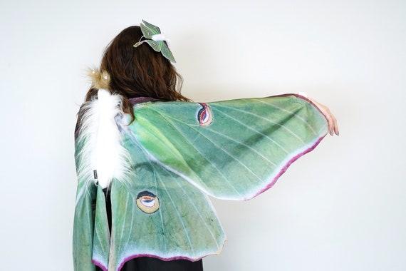 Butterfly wings Handmade costume Butterfly Costume Adult Moth wings Gray Moth Costume for Adults