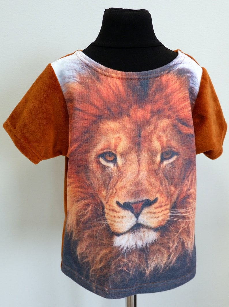 e35cb02a1b1c Print kids Shirt/ Face Animal shirt/ Sublimate kids clothes /   Etsy