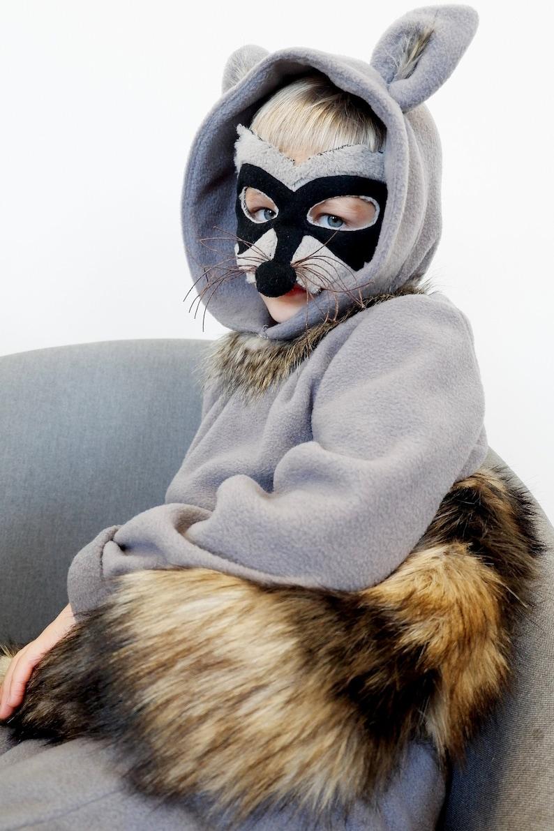 Halloween Raccoon Costume Toddler T Shirt