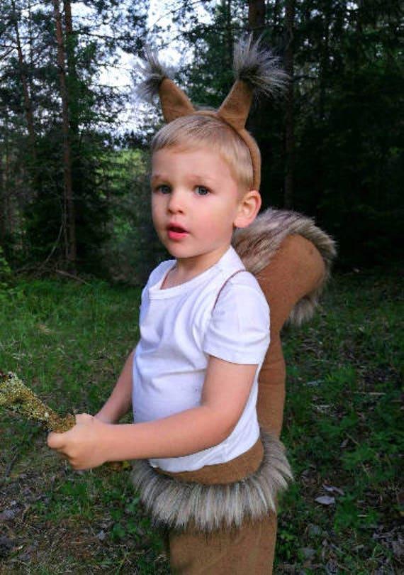 Eichhornchen Junge Kostum Kinder Eichhornchen Kostum Etsy