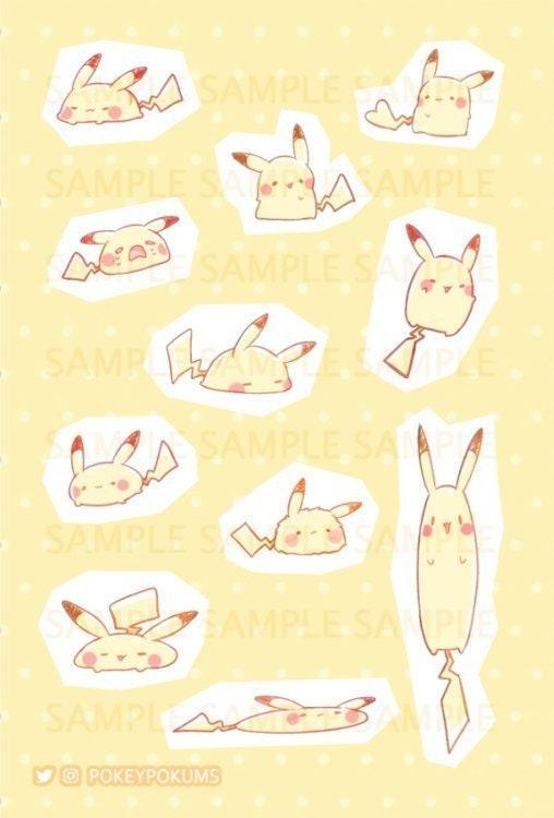 """Cute Pikachu w// Hat Pokémon Anime Decal Vinyl Sticker 5""""X6"""""""