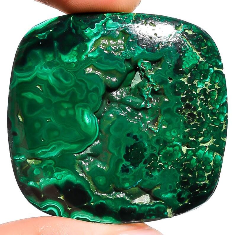 Malachite Druzy 43x41x7mm,170cts rare Malachite Druzy beautiful cabochon loose gemstone wholesale shop Z-11671