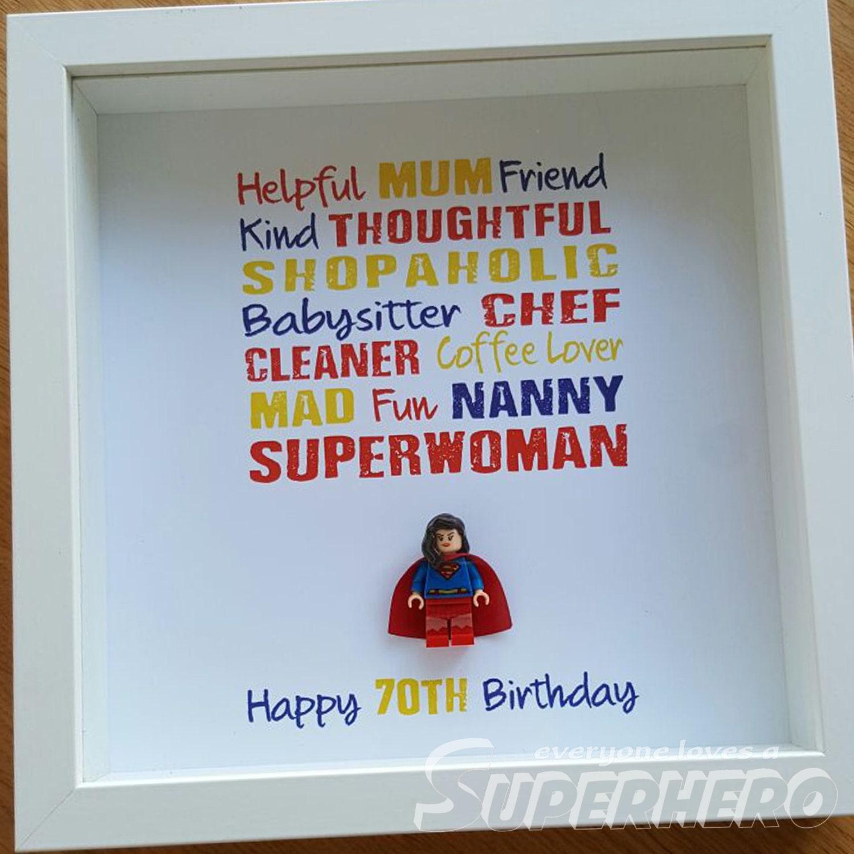 Superfrau Superhelden Rahmen Muttertag Geburtstag für alle   Etsy