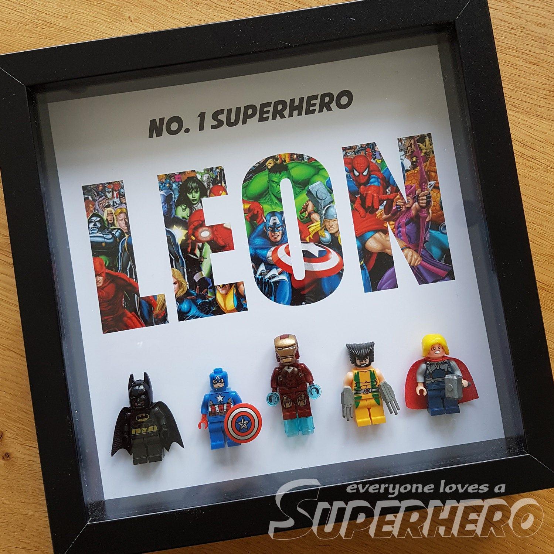 Personalisierte Superheld Namen Rahmen.   Etsy
