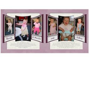 457-DP 24x12 Digital Scrapbook Template