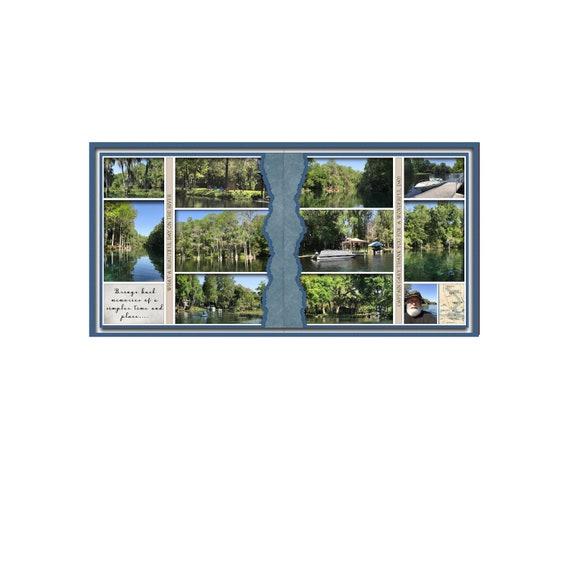 24x12 Digital Scrapbook Double Page Template 421-DP