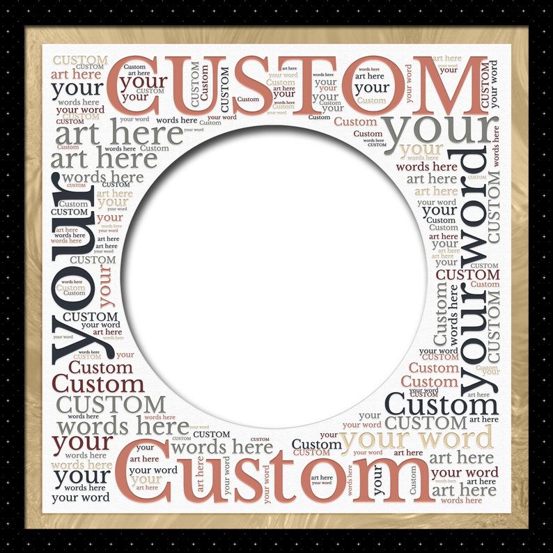 Personalized Gift Personalized Word Art Page Custom Scrapbook Page Digital Wall Art Personalized Photo Template Personalized Wall Art