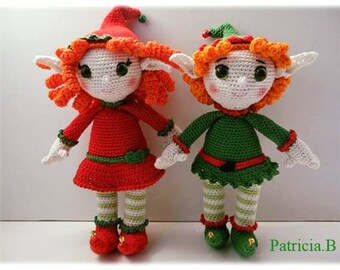 PDF tutorial of the couple of Elves to crochet