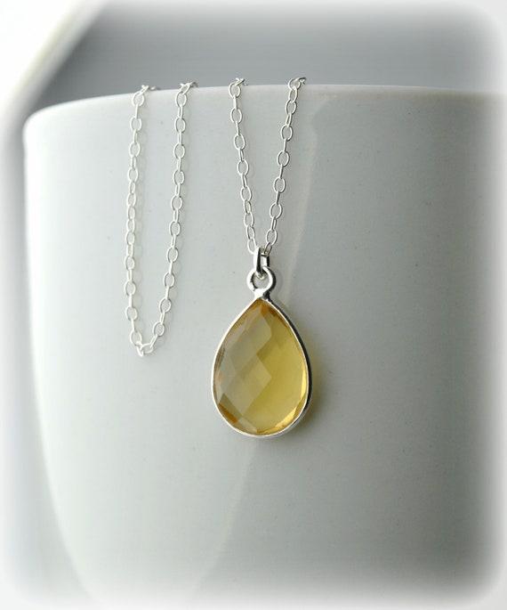 Silver Necklace Genuine Citrine Necklace Dainty November Birthstone Handmade Jewelry Necklaces for Women Citrine Pendant Gold Citrine