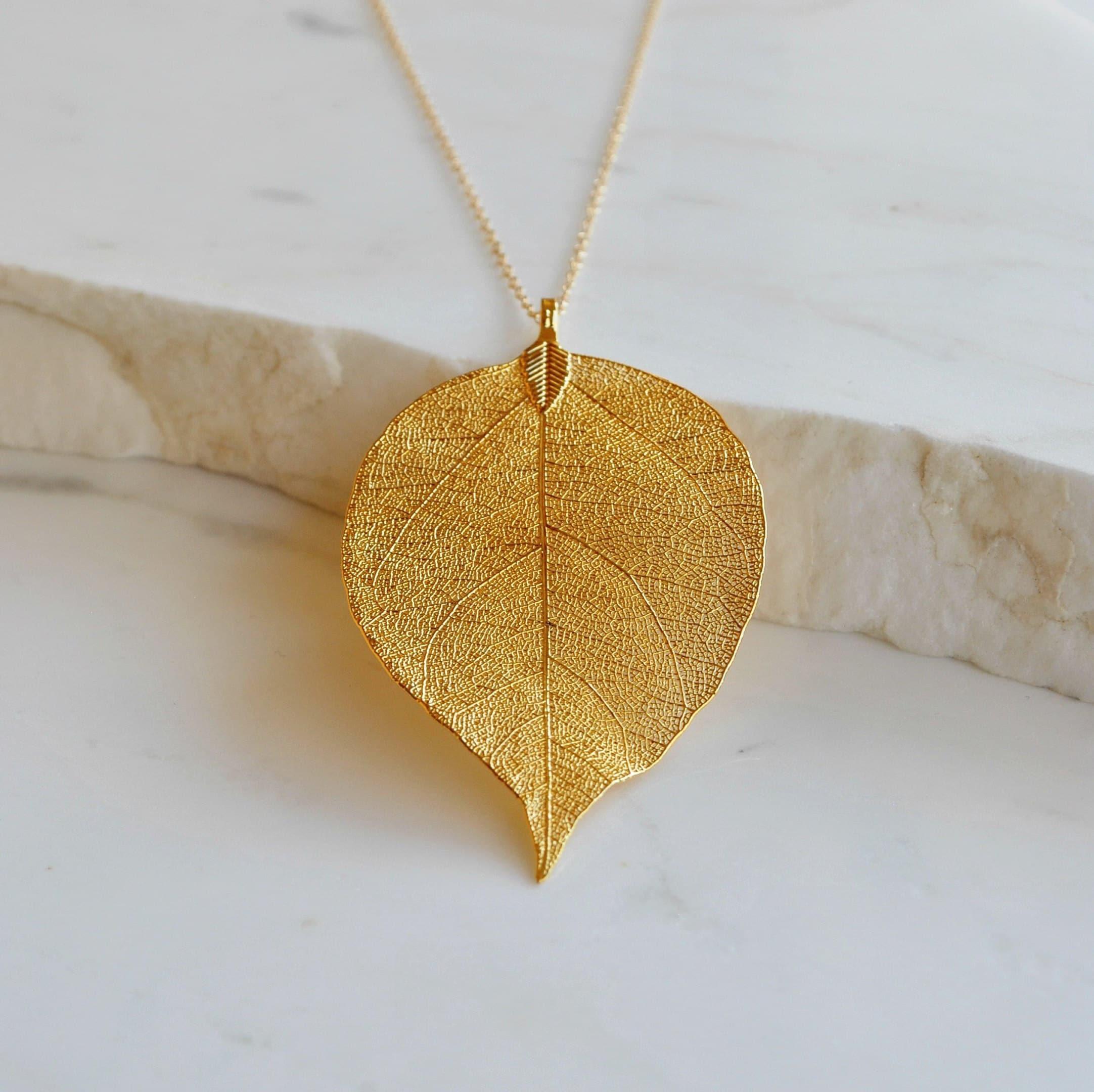 Real Leaf Necklace,Natural Leaf Pendant,Colorful Real Leaf,Aurora Color Real Leaf Necklace,Metallized Leaf Pendant,Nature Lover Gift,For Her