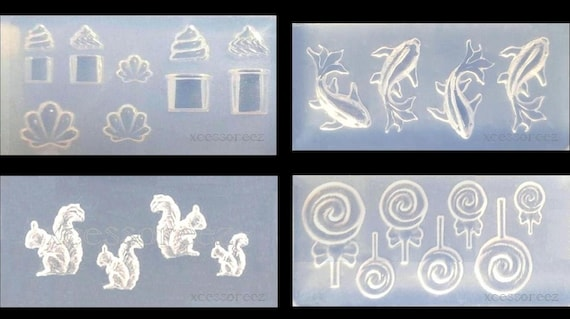 Dollhouse Miniature Size Silicone Nail Art Molds for Crafts, Epoxy, Resin, Polymers, ect.