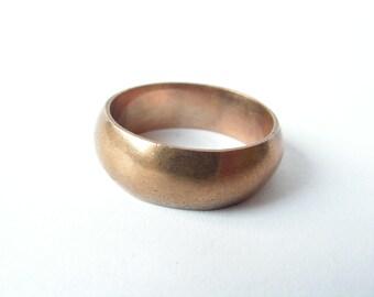 1aab976853f Men's engagement ring Mens brass ring 70s Big men's ring Simple brass ring  Handmade metal ring Old ring Retro ring Vintage metal ring