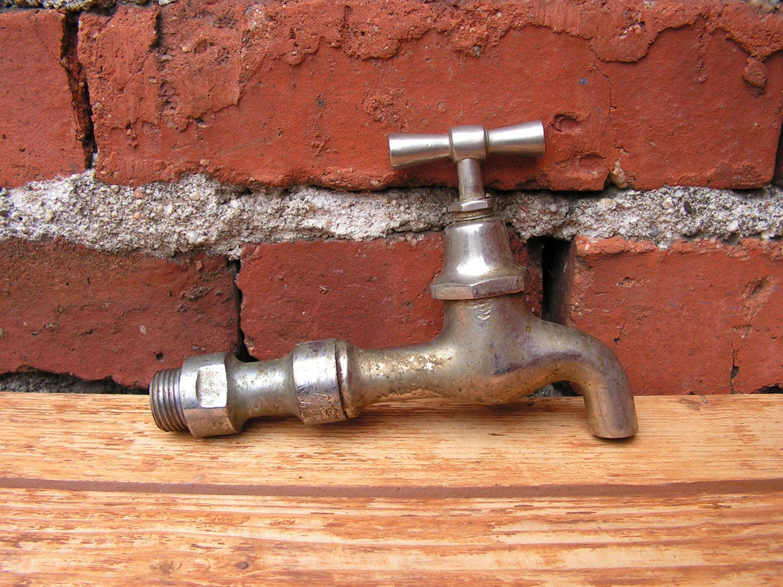 Vintage Brass Water Tap, Vintage Water Faucet, Brass Spigot, Water ...