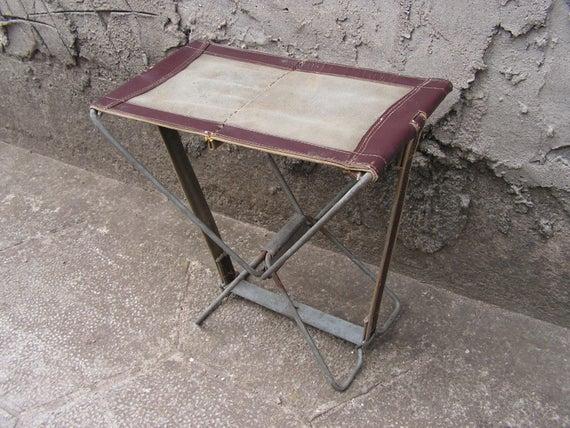 Vintage Folding Fishing Stool Folding Chair Camping