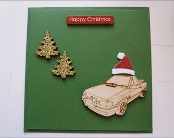 Set of Ten 10 5232 Christmas Pewter Santa in a Red Convertible Full of Gifts Enameled Charms