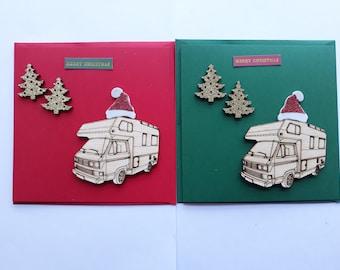 9b3c725d66d75 T25 Gypsy with Christmas Trees and Santa Hat - Handmade Christmas Card (1  Card)