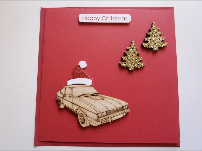 41b43373468ee Ford Capri with Christmas Trees and Santa Hat Handmade