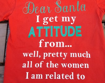 Dear Santa t shirt
