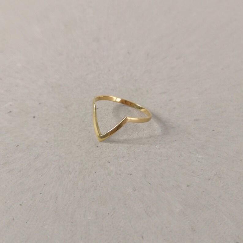 18k gold plated V shape ring